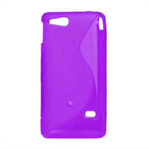 Gélové S-line puzdro na Sony Xperia Go- fialové - 2