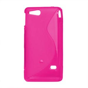 Gélové S-line puzdro na Sony Xperia Go- růžové - 2