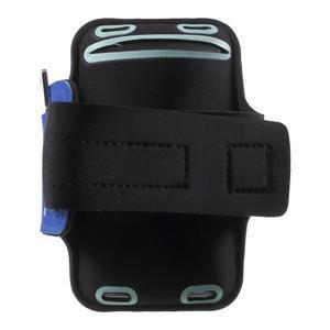 Fittsport pouzdro na ruku pro mobil do rozměrů 143.4 x 70,5 x 6,8 mm - modré - 2