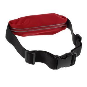 Športové kapsička pres pas na mobily do rozmerov 149 x 75 mm - červené - 2