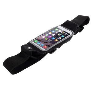 Sportovní kapsička přes pas na mobily do rozměrů 149 x 75 mm - černé - 2