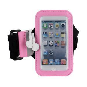 JogyFit športové puzdro na telefón do veľkosti 115 x 60 mm - ružové - 2