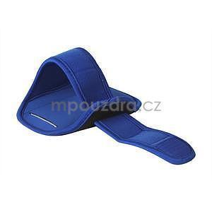 Fitness športové puzdro na mobil (140 x 75 mm) - modré - 2