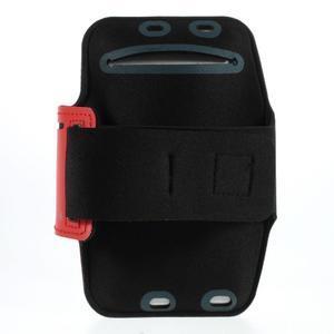 Soft puzdro na mobil vhodné pre telefóny do 160 x 85 mm - červené - 2