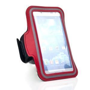 Červený športový obal na mobil do veľkosti 145 x 75 mm - 2