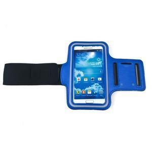 Modrý športový obal na mobil do veľkosti 145 x 75 mm - 2
