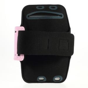 Soft puzdro na mobil vhodné pre telefóny do 160 x 85 mm - ružové - 2