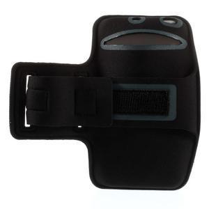 Bežecké puzdro na ruku pre mobil do veľkosti 152 x 80 mm - svetlomodré - 2