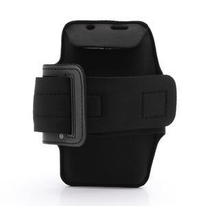 Športové puzdro na ruku až do veľkosti mobilu 140 x 70 mm - čierne - 2