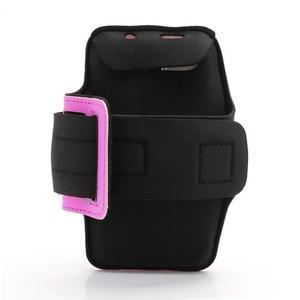 Športové puzdro na ruku až do veľkosti mobilu 140 x 70 mm - rose - 2