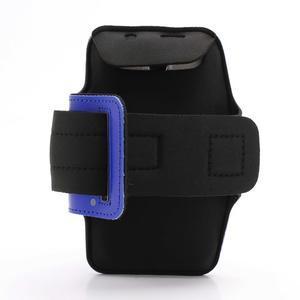 Športové puzdro na ruku až do veľkosti mobilu 140 x 70 mm - modré - 2