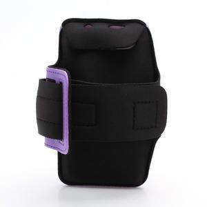 Športové puzdro na ruku až do veľkosti mobilu 140 x 70 mm - fialové - 2