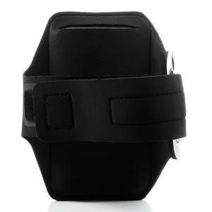 Sports Gym puzdro na ruku pre veľkosť mobilu až 140 x 70 mm - čierne - 2