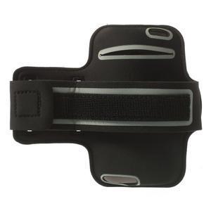 Čierne Sports Gym puzdro na ruku pre veľkosť mobilu až 150 x 70 mm - 2