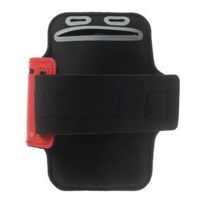 Fitsport puzdro na ruku pre mobil do veľkosti až 145 x 73 mm -  červené - 2