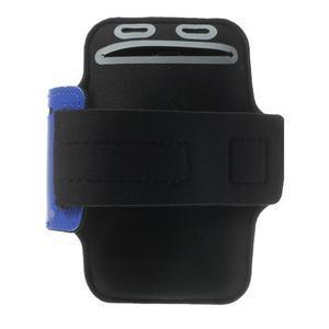 Fitsport puzdro na ruku pre mobil do veľkosti až 145 x 73 mm - tmavomodré - 2
