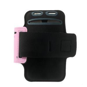 Fitsport puzdro na ruku pre mobil do veľkosti až 145 x 73 mm - ružové - 2