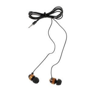 Špuntová sluchátka do mobilu, bronzová / čierná - 2