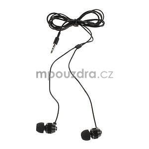 Špuntová sluchátka do mobilu, čierná - 2