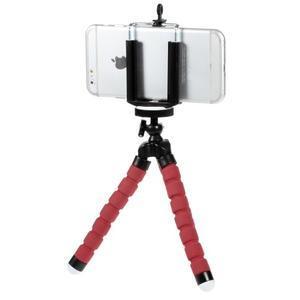 Trojnožkový stativ pre mobilní telefony - červený - 2