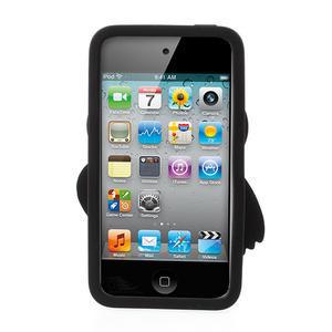 silikónové puzdro pre iPod Touch 4 - hnedá sova - 2