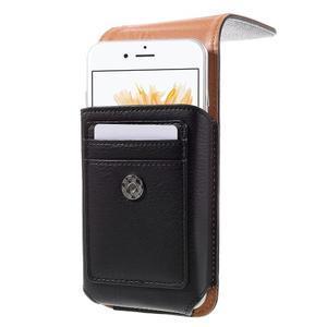 Puzdro pre opasek pre telefony do rozmerov 160 x 84 x 18 mm - čierne - 2
