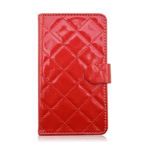 Luxury univerzálne puzdro pre mobil do 148 x 76 x 21 mm - červené - 2
