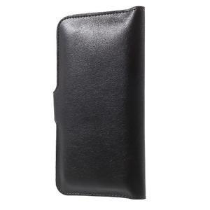 Peňaženkové univerzálne puzdro pre mobil do 140 x 68 x 10 mm - čierne - 2