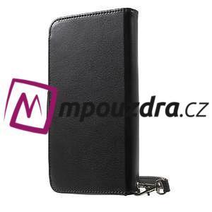 Luxusné univerzálne puzdro pre telefony do 140 x 70 x 12 mm - čierne - 2