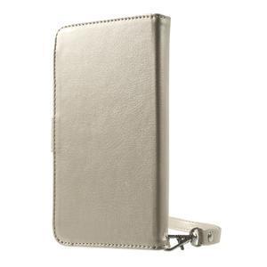 Luxusné univerzálne puzdro pre telefony do 140 x 70 x 12 mm - zlaté - 2
