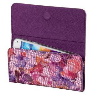 Kvetinová univerzálna kapsička na mobil do rozmerov 13,2 x 6,5 cm - rose - 2
