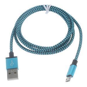 DataS Micro USB kabel nabíjaci/prepojovací - modrý - 2