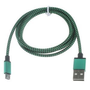 DataS Micro USB kabel nabíjaci/prepojovací - zelenomodrý - 2