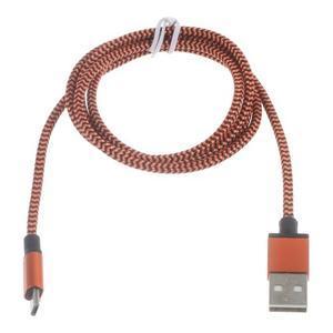 DataS Micro USB kabel nabíjecí/propojovací - oranžový - 2
