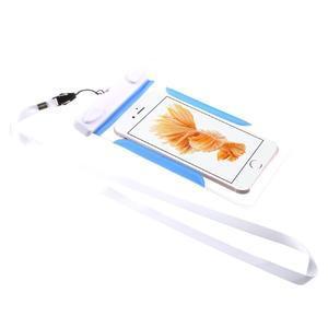 Nox7 vodotesný obal pre mobil do rozmerov 16.5 x 9.5 cm - modrý - 2