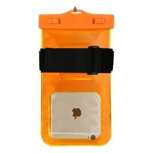 Base IPX8 vodotesný obal pre mobil do 158 x 78 mm - oranžový - 2