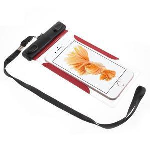 Nox7 vodotesný obal pre mobil do rozmerov 16.5 x 9.5 cm - červený - 2