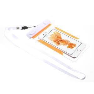 Nox7 vodotěsný obal na mobil do rozměru 16.5 x 9.5 cm - oranžový - 2