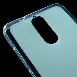 Matný gélový obal pre mobil Lenovo K5 Note - modrý - 3
