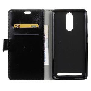Horse PU kožené puzdro pre mobil Lenovo K5 Note - čierné - 3