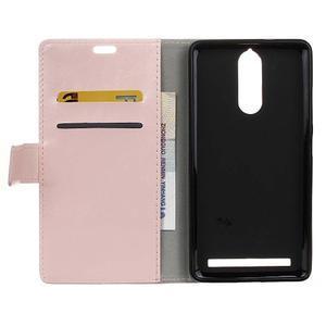 Horse PU kožené puzdro pre mobil Lenovo K5 Note - ružové - 3