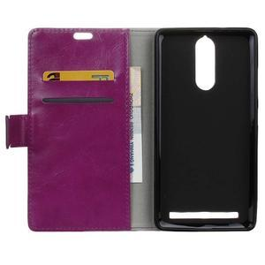 Horse PU kožené pouzdro na mobil Lenovo K5 Note - fialové - 3
