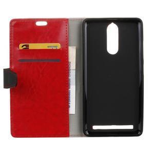 Colory knížkové puzdro pre Lenovo K5 Note - červené - 3