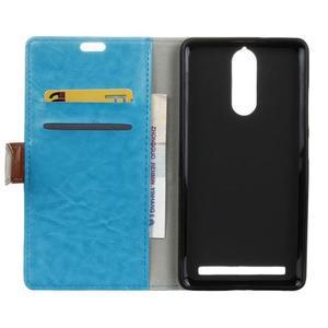 Colory knížkové puzdro pre Lenovo K5 Note - modré - 3