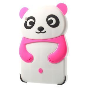 3D Silikonové puzdro na iPad mini 2 - ružová panda - 3