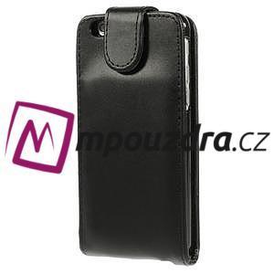 Kožené flipové puzdro na iPhone 6, 4.7 - čierné - 3