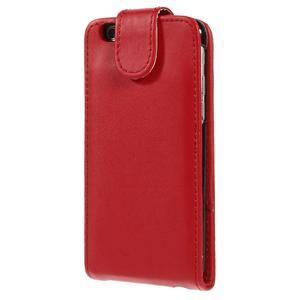 Kožené flipové puzdro pre iPhone 6, 4.7 - červené - 3