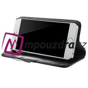 Peňaženkové kožené puzdro na iPhone 6, 4.7 - čierné - 3