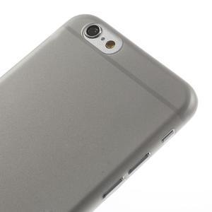 Ultra slim 0.3 mm plastové puzdro pre iPhone 6, 4.7  - sivé - 3