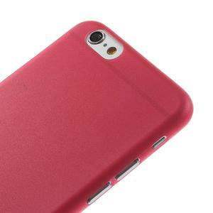 Ultra slim 0.3 mm plastové puzdro na iPhone 6, 4.7  - červené - 3